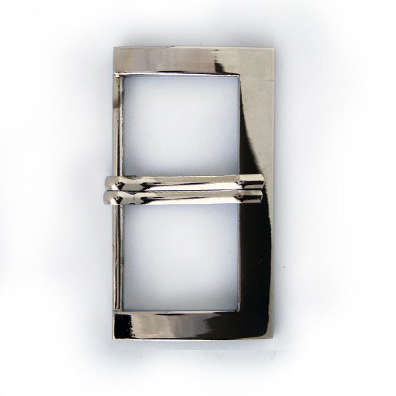 #0736 Nickel Rectangle Buckle 60mm