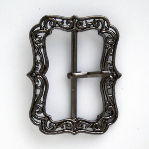 #0744 Black Decorative Buckle 40mm