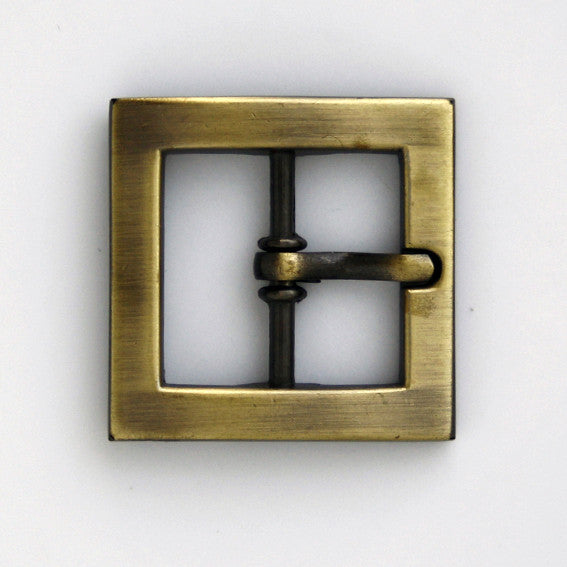 #0759 Antique Brass Square Buckle 20mm