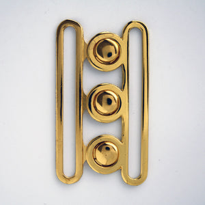#0760 Gold Tri-Clasp Buckle 70mm