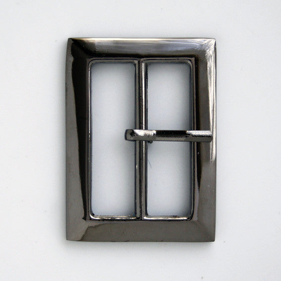 #0763 Square Metal Gunmetal Buckle 14mm