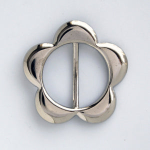 #0772  Nickel Flower Buckle 30mm