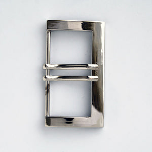 #0841 Gunmetal Double Prong Buckle 50mm