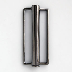#0845 Antique Nickel Tube Buckle 50mm