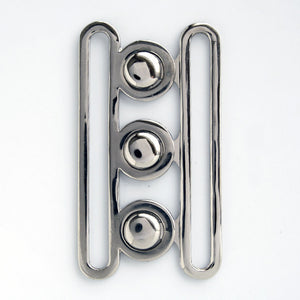 #0869 Nickel Tri Clasp Buckle 70mm