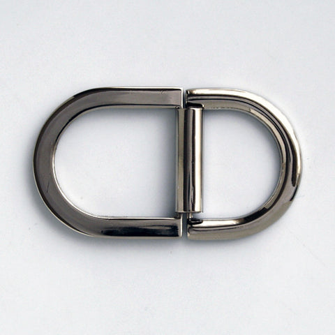 #0882 Nickel Double D Ring 20mm