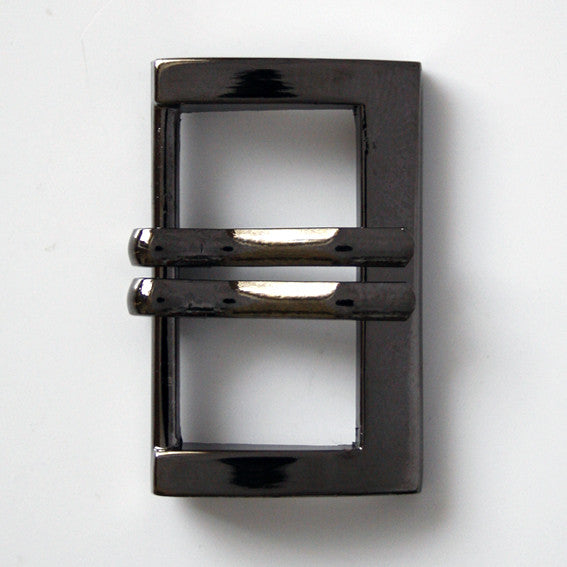 #0947 Gunmetal Double Prong Buckle 25mm