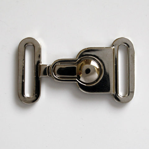 #0962 Nickel Finish Clasp Buckle 20mm