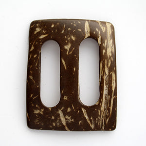 #1265 Rectangle Coconut buckle 30mm