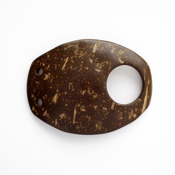 #1281 Decorative Coconut Shell buckle 20mm