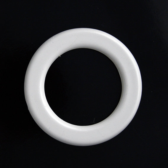 #1298 Round Acrylic Ring buckle White 30mm