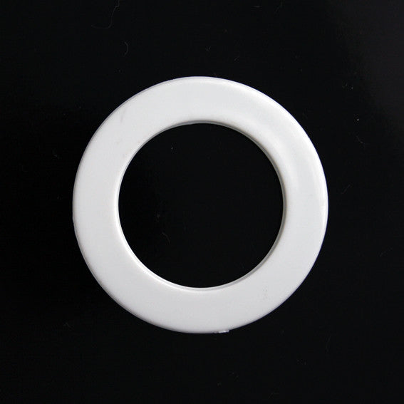 #1304 Round Acrylic Ring buckle White 30mm
