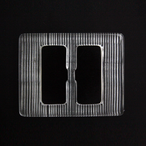 #1336 Rectangle Acrylic Clear buckle 30mm