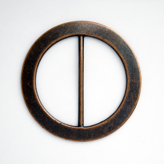 #1383 Round Metal Antique Copper buckle 45mm