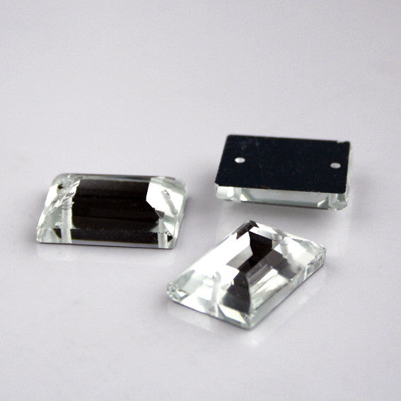 Rectangle glass stone 13mm