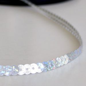 #2011 Single sequin trim clear 6mm