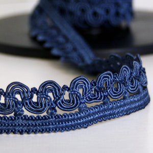 Scallop braid blue 20mm