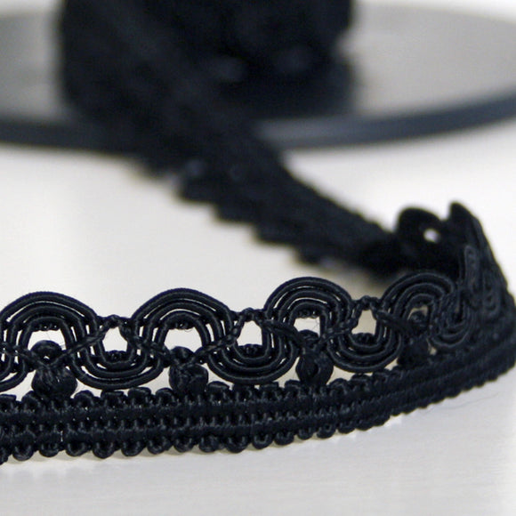 Scallop braid black 20mm