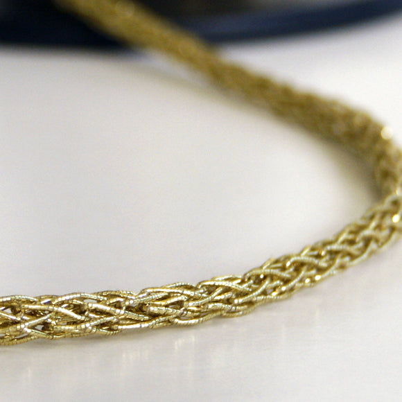 Rope weave braid gold 5mm