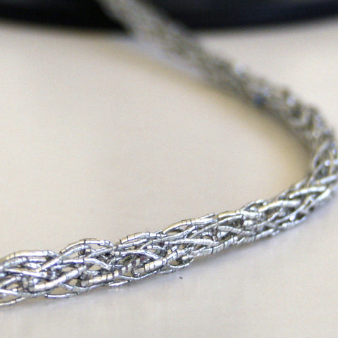 Rope weave braid silver 5mm