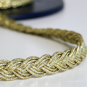 Plaited gold trim 12mm