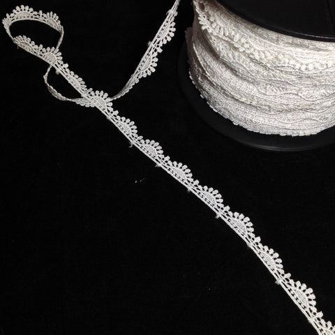 #CLA4494 Scallop Lace Trim White 14mm $3.50/mt