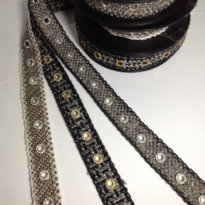 Clarissa Ornate Circular Crystal Trim