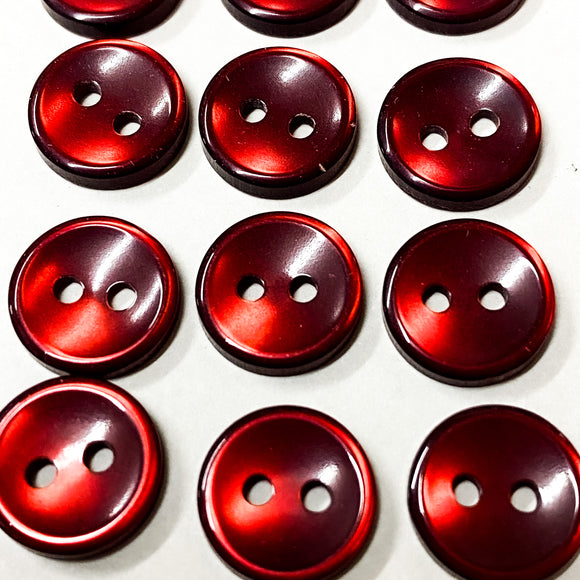 Ruby Red Shirt Buttons
