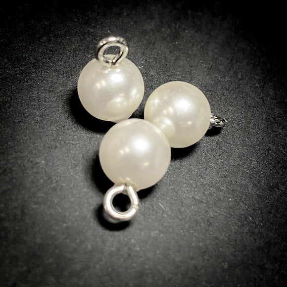 8mm Ivory Pearl Shank Button