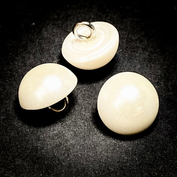 12mm Ivory Half Dome Pearl Button