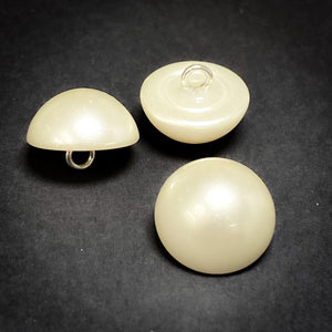 15mm Cream Half Dome Pearl Button
