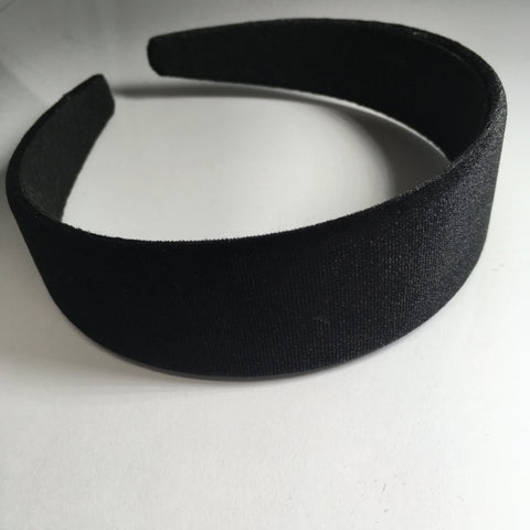 Thick Black Velvet Headband