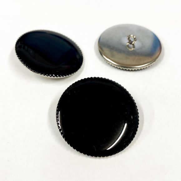Black Resin Drop Button