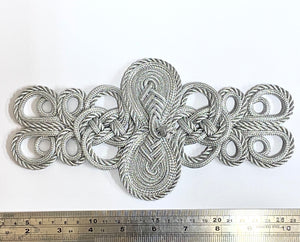 Silver Knot Applique