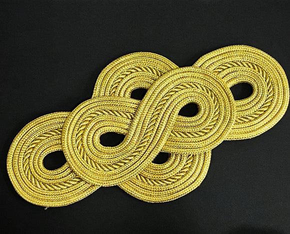 Gold Figure 8 Applique