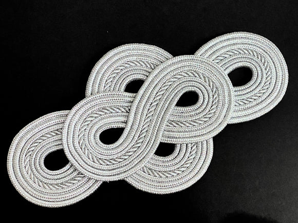 Silver Figure 8 Applique