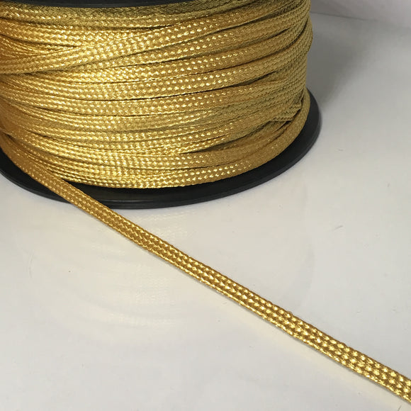 Flat Gold Braided Cord 6mm
