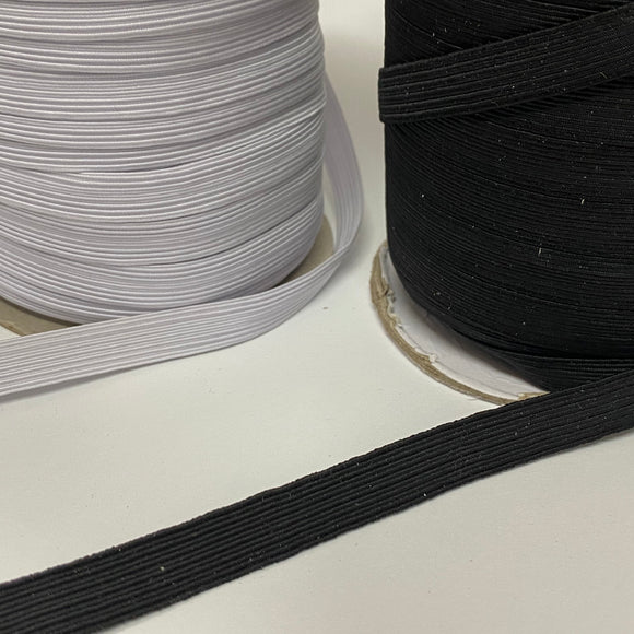 12mm Flat Face Mask Elastic