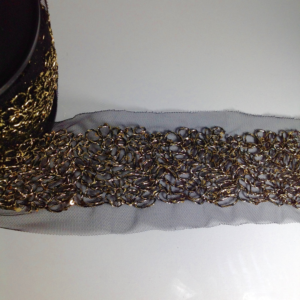 #YT203513 Decorative Gold Thread Sequinned Trim