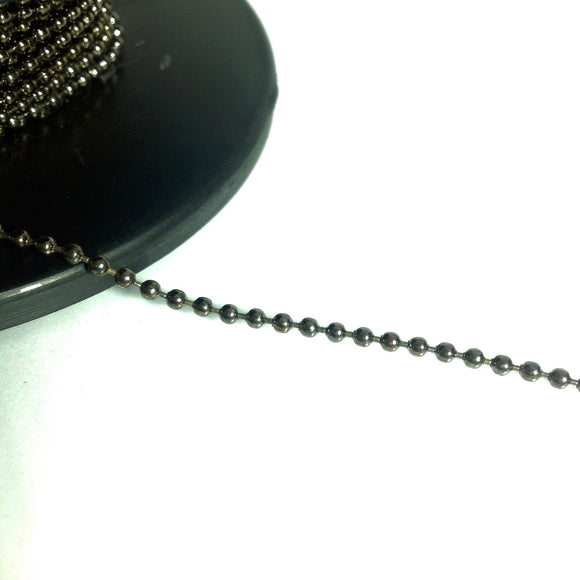Gunmetal Ball Chain 2mm
