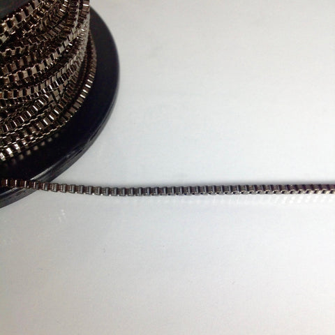 Gunmetal Square Linked Chain 3mm