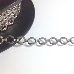 Silver Circular Linked Chain 11mm