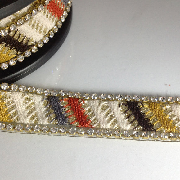 Bohemian Crystal Edged Trim