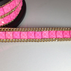 Hot Pink Iron-On Trim