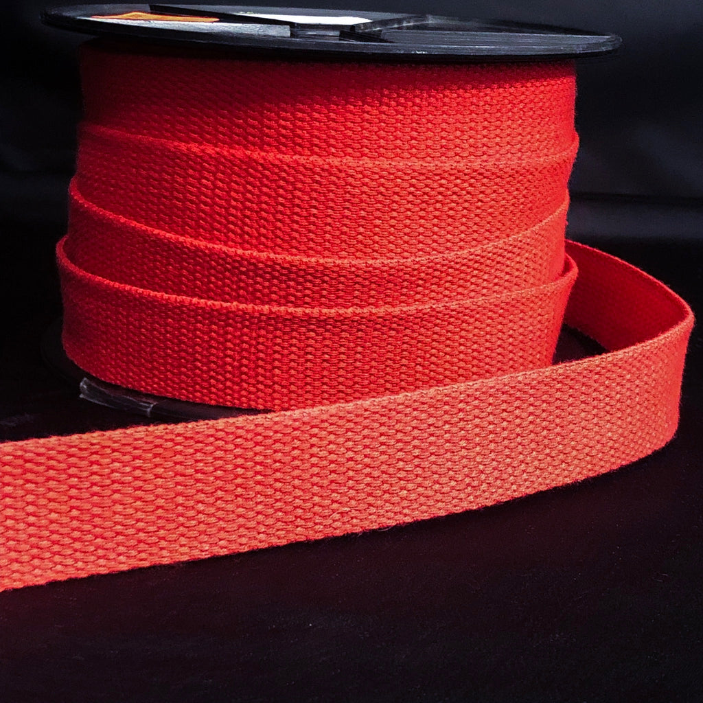 25mm Webbing Tomato Red