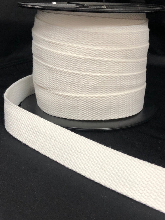 25mm Webbing Vivid White