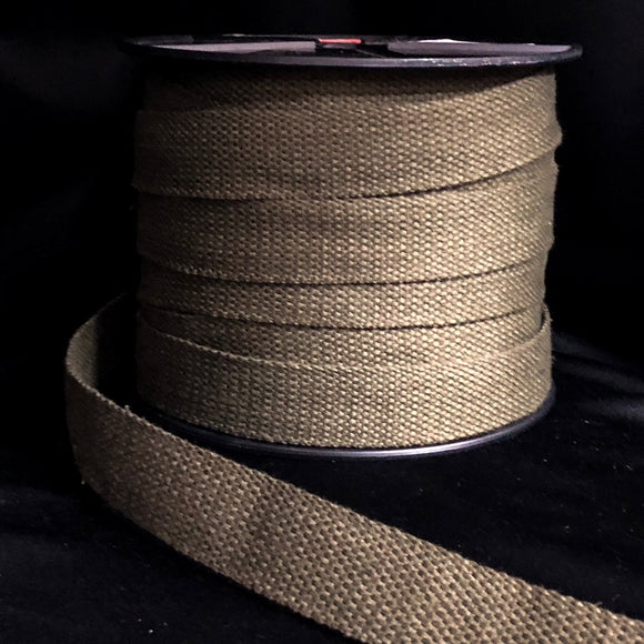 25mm Webbing Kahki Green