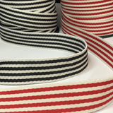 38mm Striped Whitney Webbing