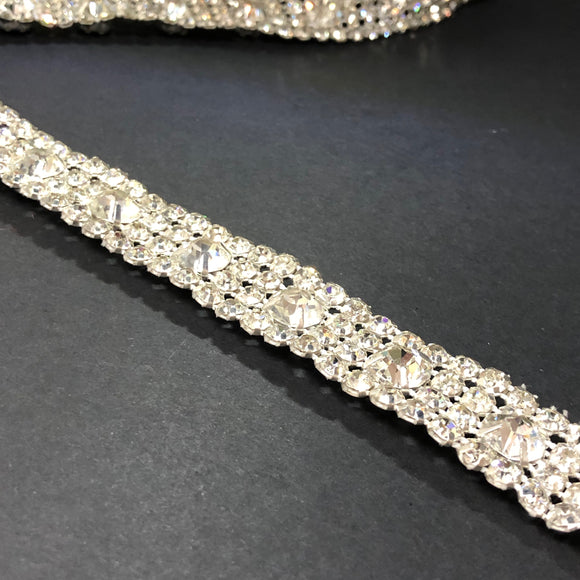 Diamonte Trim with Large and Small Stones