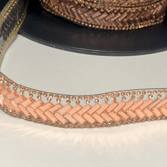 Rose Gold Herringbone Trim